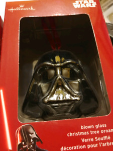 Hallmark Star Wars christmas blown glass ornament