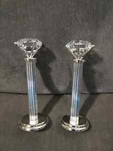 Diamond candle holders - wedding, shower Peterborough Peterborough Area image 1