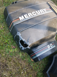 1990 mercury 90hp engine cover and lower unit