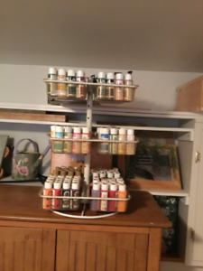 Craft paint with rack