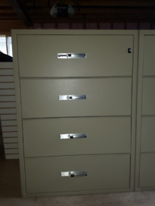 *USED* GARDEX 4-DRAWER FIRE PROOF FILING CABINET -TWO AVAILABLE