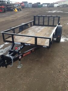 """2016 Maxey 61""""x 10' Utility Trailer with Rear Ramp"""