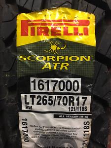 4 New Pirelli Scorpion ATR LT 265/70R17 * WallToWallTires.com *
