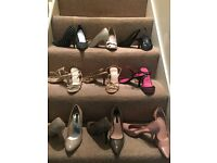 Size 5/38 high heel / kitten heel ladies shoes X 9 pairs