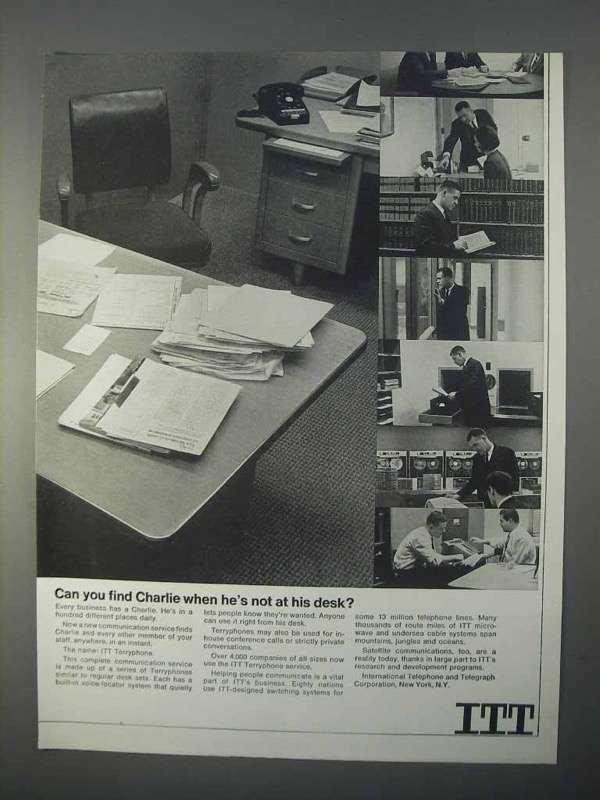 1966 ITT Terryphone Ad - Can You Find Charlie?