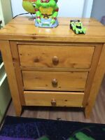 Real wood night stand