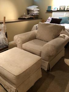 Chair and Ottoman Set - 200$