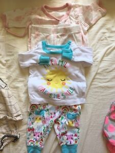 23-Piece Almost New Baby Girl Sets and Dresses 0-3M