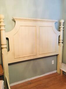 Bed frame, dresser and side table