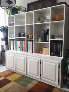 Custom White Pine Storage / Shelving / Book Unit - 2 pieces