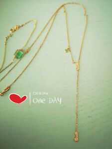 """""""lily-of-the-valley"""" 18K rose gold diamond/opal lariat necklace"""