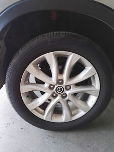 Mazda cx5 mags jantes rims with tires pneus 19 inch pouces