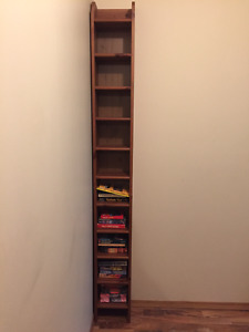 Solid Wood CD/DVD Storage Shelving Unit