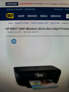 HP Envy 5660 wireless printer for sale for 90$