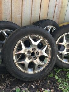 15 inch Avalanche X-Treme  winter tires and rims