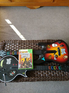 Guitar Hero 3 for 360 with two guitars