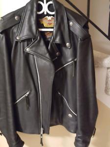 Harley Davidson leather jacket- size large