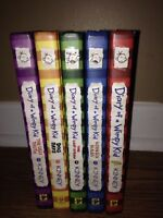 Diary of a wimpy kid books (1-5)