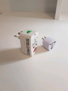 Surge protector and travel adapter set