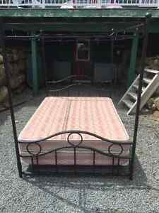 Steel Queen Canopy Four Poster Bed