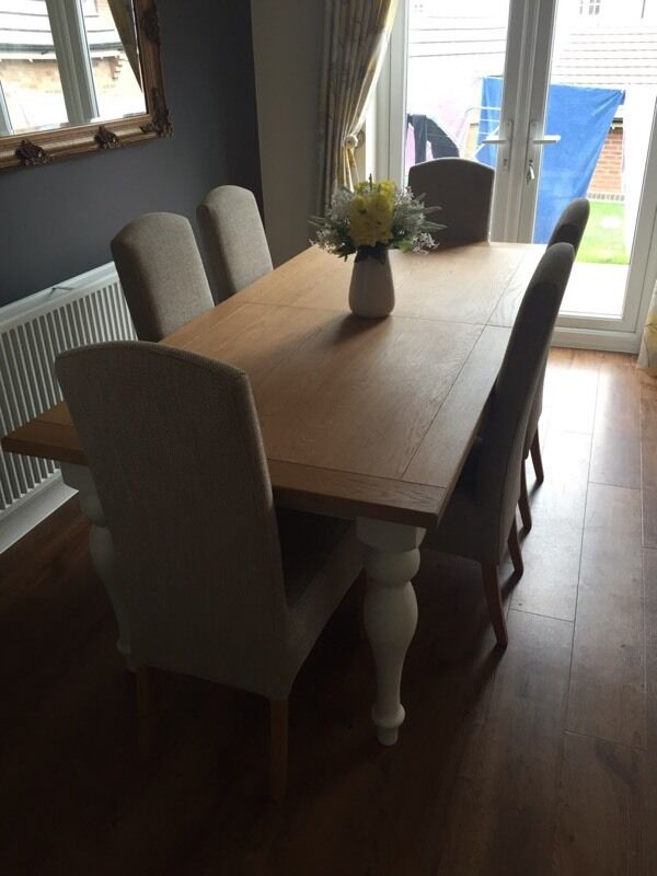 Next Shaftesbury Cream Painted 6 8 Seater Extending Dining Table
