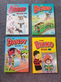 Beano and Dandy 4 book bundle / lot