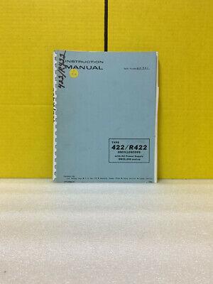 Tektronix 070-0894-00 Type 422r422 Oscilloscope Ac Power Supply Manual
