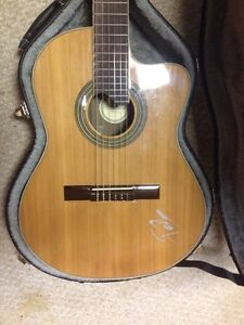 Pavlo electric/acoustic guitar signed as well
