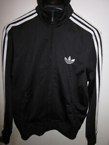 AUTHENTIC MENS ADIDAS BLACK TRACK JACKET SIZE M