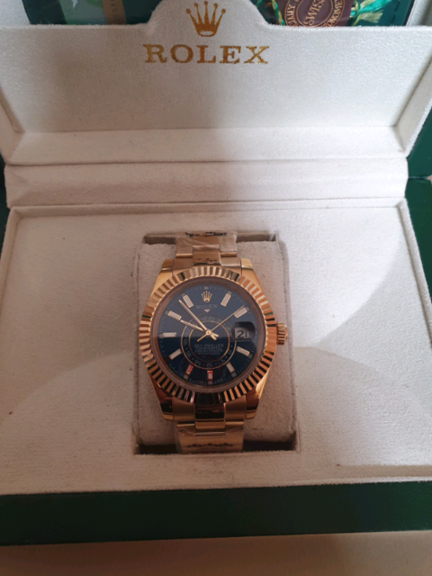 Skydweller gold with blue dial watch 1   in Moston, Manchester   Gumtree