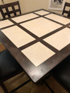 Moving sale dining table 5 pieces plus free matching buffet
