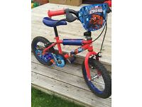 """Kids 14"""" spider man bike"""