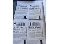 Alton Towers Tickets X 4 for Friday 9th September