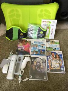 Console Wii avec pleins d'accessoires