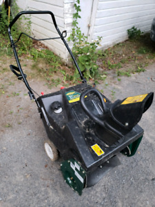Yardworks single stage snowblower 21""