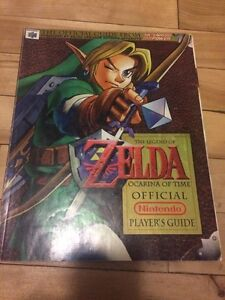 Zelda ocarina of time guide BOOK livre nintendo rpg