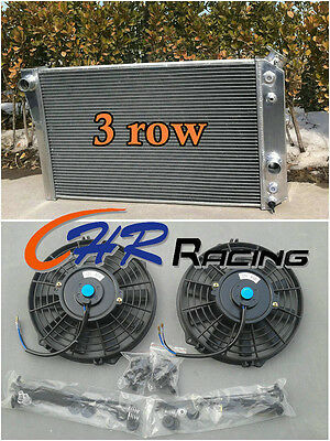 Aluminum radiator+FAN FOR Chevrolet Chevy S10 (W/ V8 Conversion) AT/MT -