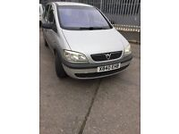 Vauxhall zafira 7seater 1.6 long mot drives mint 495