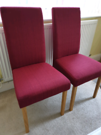 2 x Fabric Dining Chairs
