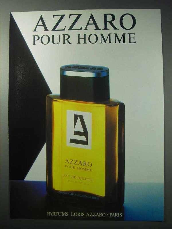 1986 Azzaro Pour Homme Cologne Ad