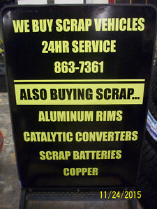 OPEN 24/7 Buying Scrap cars.FREE SCRAP METAL PICK UP