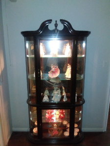 Solid Cherry Wood Glass Cabinet