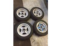 Escort rs2000 mk1 mk2 4 spoke capri 4 spoke wheels with tyres