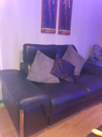 Leather reclining electric sofa