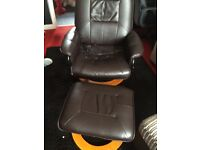 Massage chair and foot stool