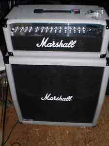 MARSHALL STACK GUITAR AMPLIFIER , LIMITED SILVER EDITION $800.