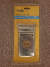 Yale Traditional Rim Lock for Door/Gate (unopened)