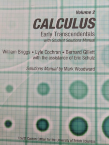 Calculus Early Transcendentals with solution manual - Briggs vol