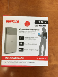 Buffalo MiniStation Air Wireless 1 TB Portable Hard Drive