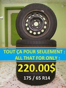 Pneus/Tires (175/65R14)  Été / Summer (4 saisons / All seasons)